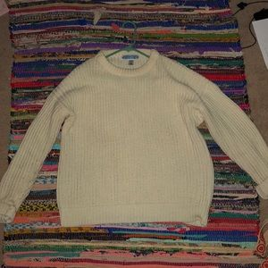 heavy ivory sweater